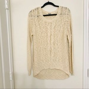 Charlotte Russe cable knit cream sweater
